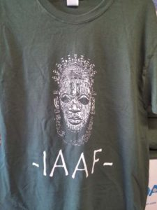 IAAF BLACK SHIRT WHITE PRINT